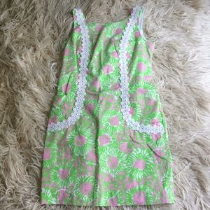 Lilly Pulitzer Cabana Pink Sunny-side lions dress